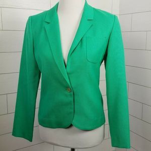 Vintage 1970s Blazer Jacket Green Small